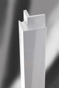 Corner post RAD high gloss white